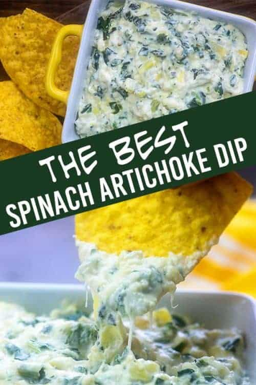 Our best spinach artichoke dip recipe! #dip #recipe #snacks