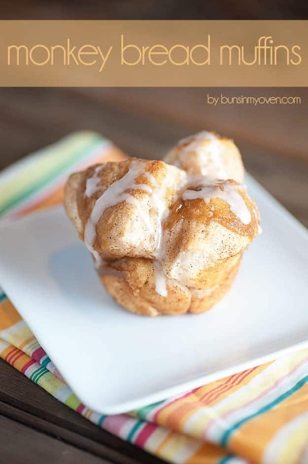 Monkey Bread Muffins with Icing
