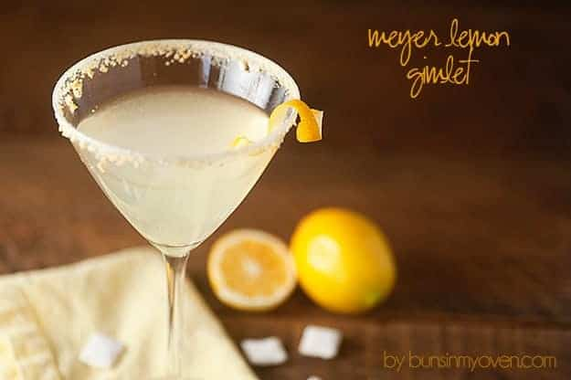 meyer lemon gimlet