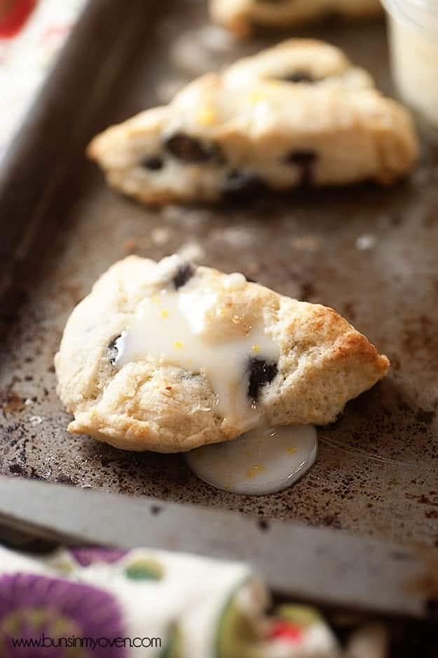 Love these Spring inspired blueberry cream scones! These scones are so tender and fluffy!
