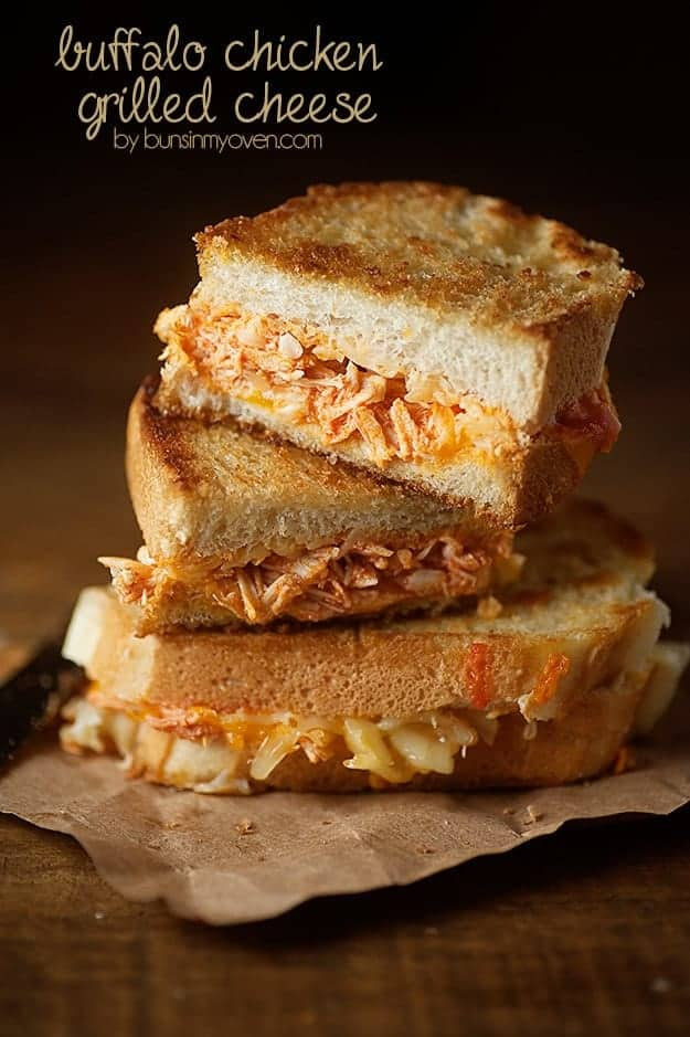 Buffalo Chicken Grilled Cheese recipe