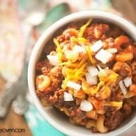 My secret ingredient chili mac is quickly becoming a family favorite!