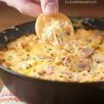 Melty ham and cheese dip! Perfect for football!