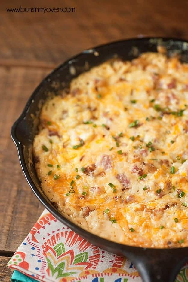 Melty ham and cheese dip!