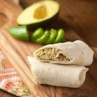 Pineapple Guacamole Chicken Wraps - a fun twist on chicken salad that's perfect