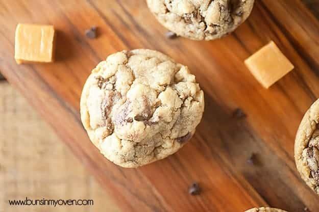 Molten Caramel Cookie Cups