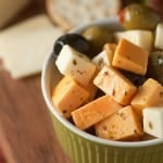 Marinated cheese and olives - an easy snack that's perfect with a glass of wine!