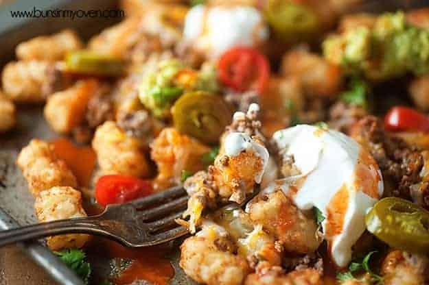 Tater Tot Nachos - an easy summer lunch that kids love!
