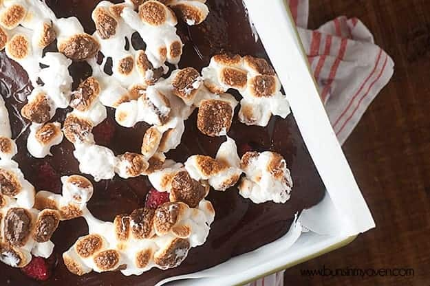 Raspberry S'mores Bars - these are super easy and perfect for summer!
