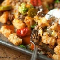 Tater Tot Nachos - an easy summer lunch that kids love!
