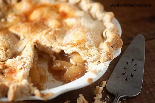 Our favorite way to eat peach pie...full of ginger and bourbon!
