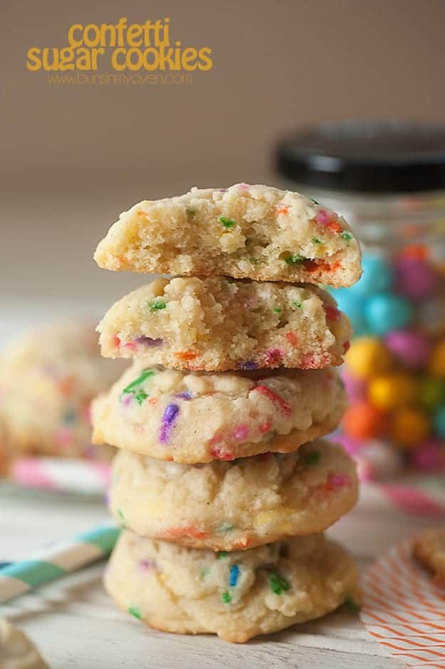 Homemade Sugar Cookies With Sprinkles Soft Batch Style