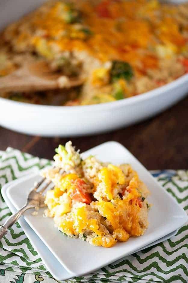 cheesy broccoli casserole recipe with quinoa