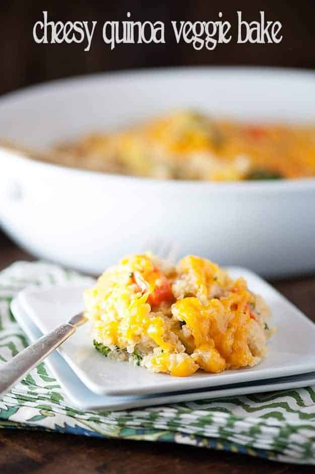 cheesy quinoa vegetable bake recipe