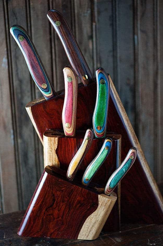 knifeworks teak set