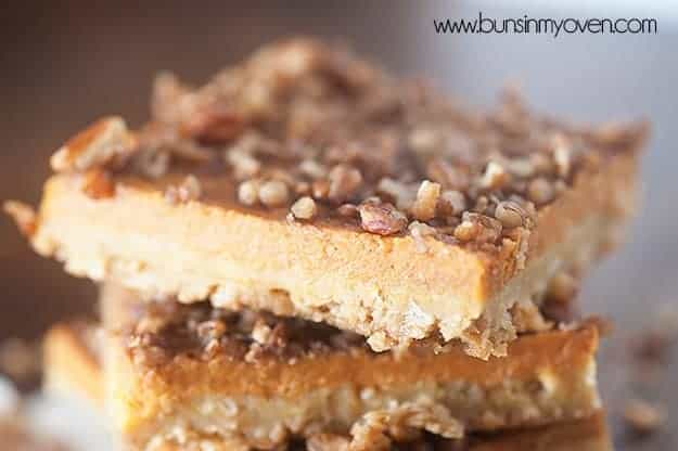 pumpkin pecan bars recipe