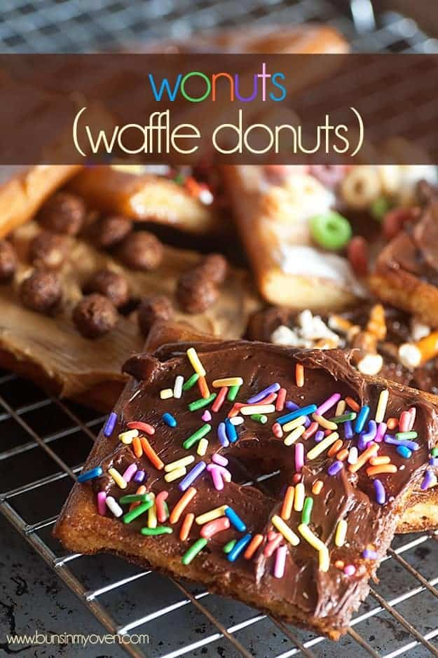 fry some waffles and make these wonuts!