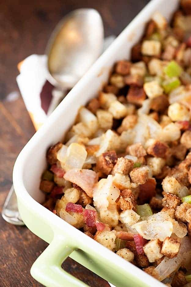 Bacon Stuffing recipe for Thanksgiving dinner
