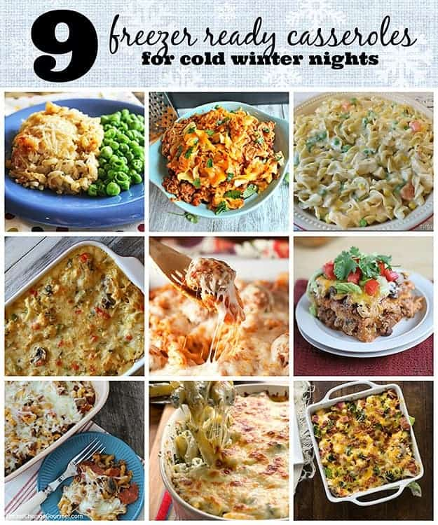 freezer ready casseroles collage w