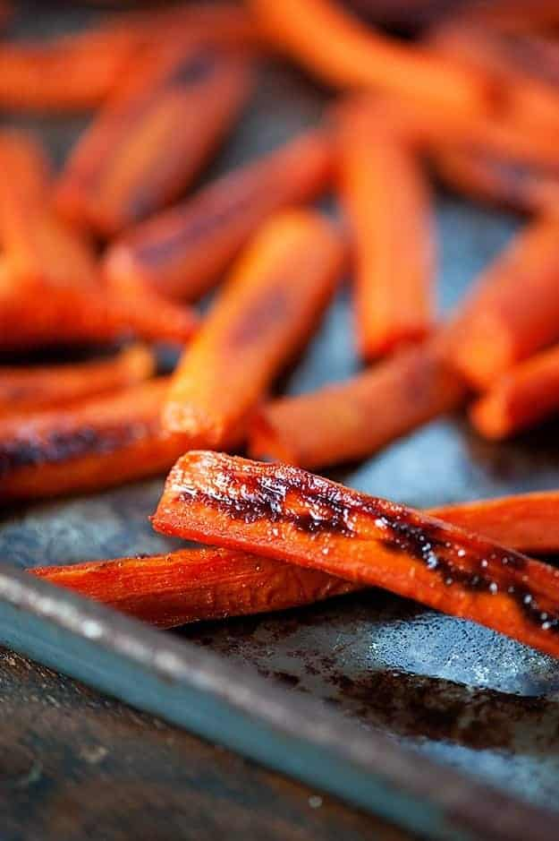 Spicy Maple Roasted Carrots recipe