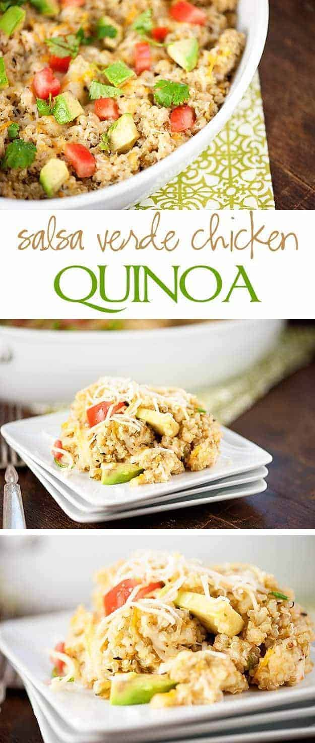 Salsa Verde Chicken Quinoa Recipe - an easy weeknight dinner!