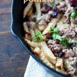 Thanksgiving poutine...all the flavors of Thanksgiving served over fries!
