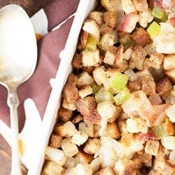 Bacon Stuffing recipe for Thanksgiving dinner