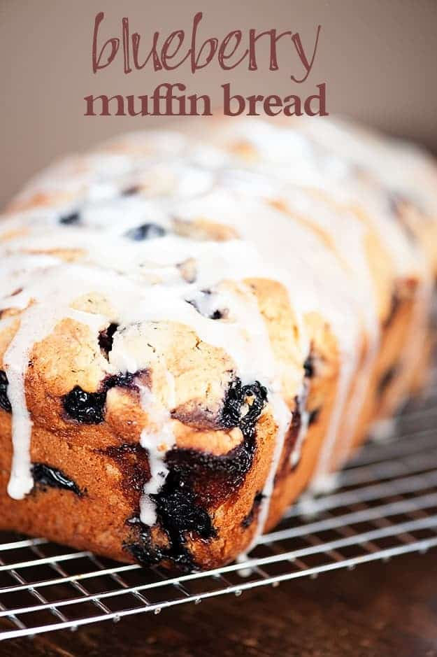 Glazed blueberry muffin bread recipe