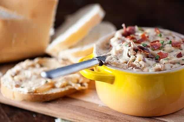 Caramelized Onion and Crispy Prosciutto Dip
