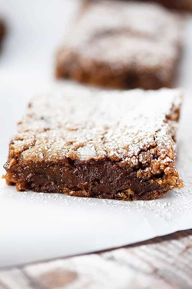 Dark Chocolate Gingerbread Bars