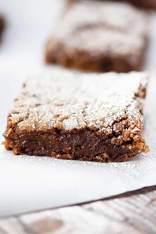 Dark Chocolate Gingerbread Bars