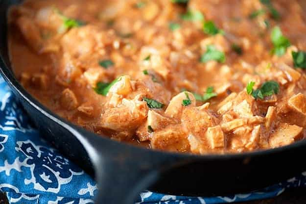 This Indian Butter Chicken recipe is transformed into a dip to make snack time a little more exotic!