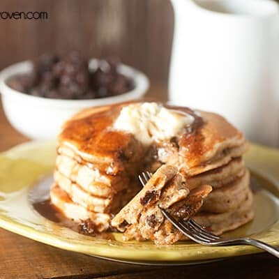Cinnamon Raisin Bread Pancakes recipe