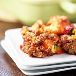 Sloppy Joe Cornbread Casserole Recipe - an easy weeknight recipe for the family!