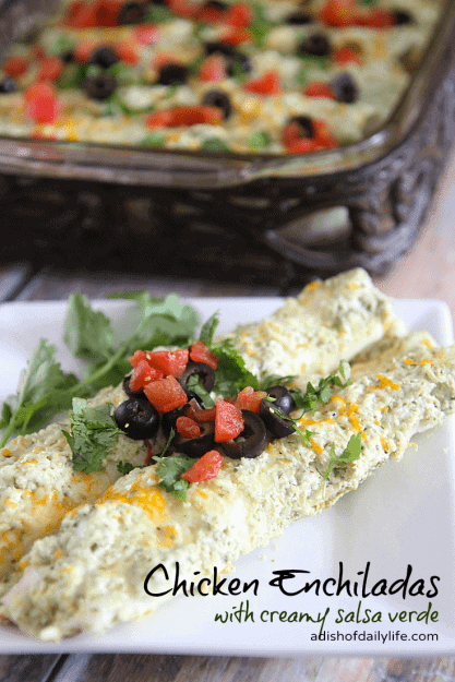 Chicken-Enchiladas-with-a-creamy-salsa-verde-sauce-are-delicious-and-easy-to-make
