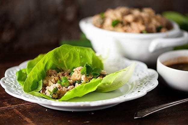 Low Carb Asian Chicken Lettuce Wraps