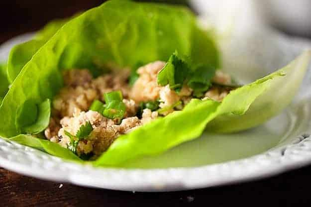 Low Carb Asian Chicken Lettuce Wraps