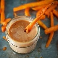 Easy barbecue fry sauce recipe - perfect for french fries and sweet potato fries!