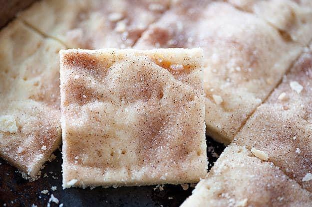 Cinnamon Sugar Shortbread Bars — Buns In My Oven