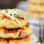Ham and Cheese Potato Pancakes recipe
