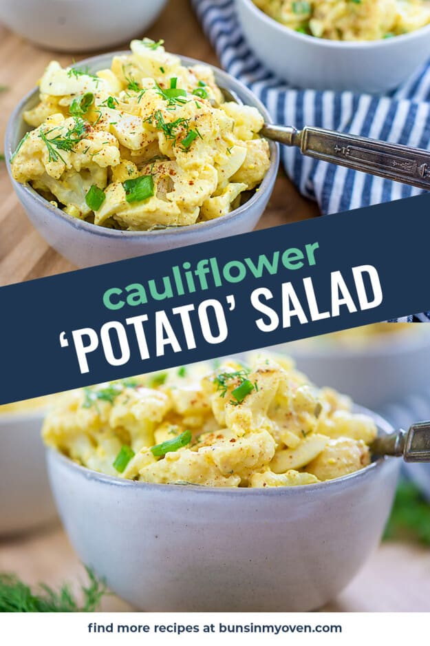 collage of keto potato salad images.