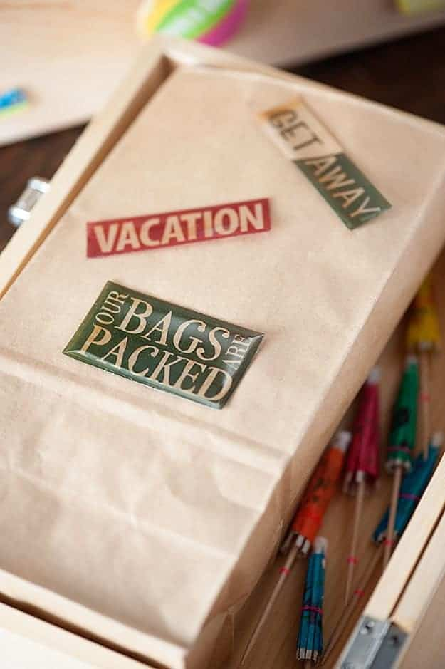 A vacation case for the beach.