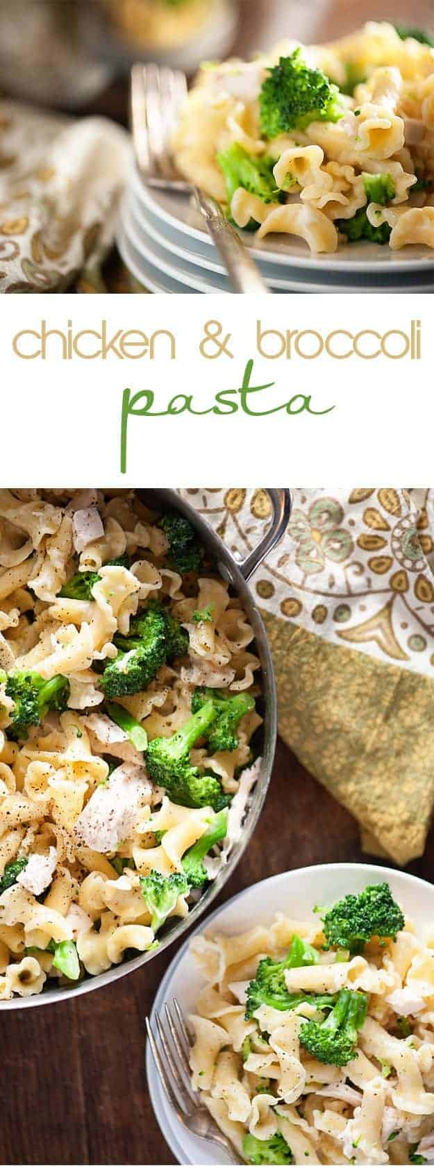 This chicken broccoli pasta recipe is one of those easy dinner recipes you'll make again and again! It's ready in just 20 minutes!