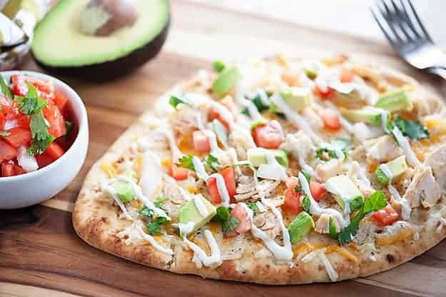 Mexican chicken flatbread recipe