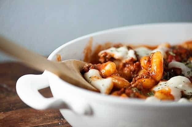 Easy and healthy dinner recipe: Gnocchi Casserole!