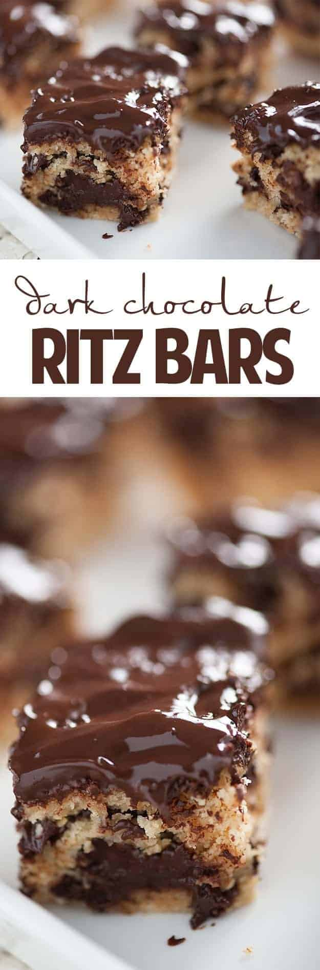 Dark Chocolate Ritz Bars Recipe