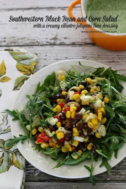 Southwestern-Black-Bean-and-Corn-Salad-with-a-creamy-cilantro-jalapeño-lime-dressing