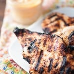 This spicy buttermilk grilled chicken is a quick grilled recipe that leaves chicken extra moist and juicy.