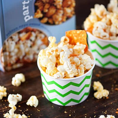 Nacho Cheese Doritos Popcorn - a fun and easy snack for kids!