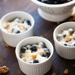 Blueberry Granola Gratin - a healthy dessert or snack that is ready in less than 5 minutes!
